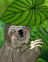 Winifred Sloth - Leaf Umbrella