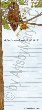 Wilbur Owl-Notes to avoid the daily bird poop