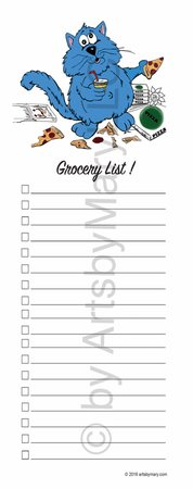 Fat Cat Hungry- Grocery List