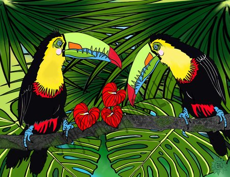 Charlie and Sophie Toucan