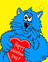 Fat Cat Happy Valentine's Day