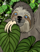 Winifred Sloth - Among Leaves